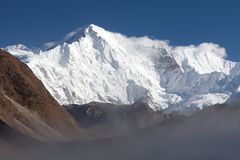 Mount Cho Oyu, three passes trek, Cho Oyu base camp trek Royalty Free Stock Photos
