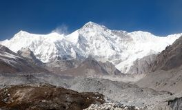 Mount Cho Oyu - way to Cho Oyu base camp Royalty Free Stock Photography