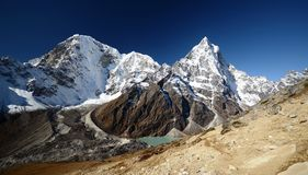 Mount Cholatse in the Everest trek Stock Image