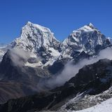 Mount Cholatse and Taboche Peak Royalty Free Stock Images