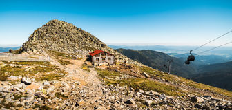 Mount Chopok Mountain Hut and Cableway Royalty Free Stock Image