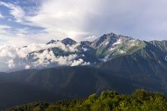 Mount Chugush Western Caucasus. Panoramic view of mount Chugush Western Caucasus royalty free stock photos