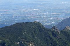 Mount CIMONE in the province of vicenza in Italy Royalty Free Stock Photos