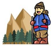 Mount climber boy Stock Photography