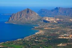 Mount Cofano in Sicily Stock Image