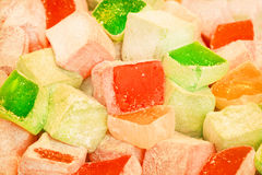 Mount of colorful pieces of lokum or delight Stock Photos