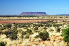 Mount Conner - tabletop mesa. Landscape photo of Mount Conner - the first of the desert tors to be seen by a visitor to Central Australia Royalty Free Stock Images