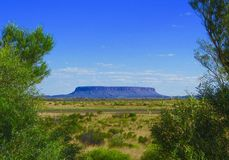 Mount Connor in the outback Australia Royalty Free Stock Images