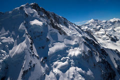 Mount Cook aerial photo - New Zealand Stock Images