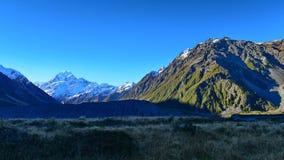 Mount Cook along Kea Point Track in Aoraki Mount Cook National Park Stock Image