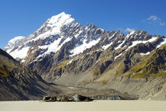 Free Mount Cook And Pukaki Lake, New Zealand Royalty Free Stock Photo - 40900355