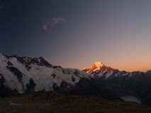 Mount Cook / Aoraki at dusk Royalty Free Stock Photo
