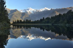 Mount Cook. Beautiful Mount Cook reflecting in Lake Matheson Royalty Free Stock Photo