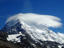 Mount Cook with Cloud Halo Royalty Free Stock Photography