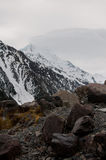 Mount Cook in Clouds Stock Photography