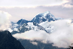 Mount Cook covered in clouds Stock Image