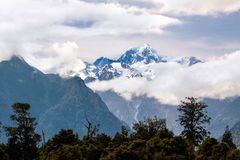 Mount Cook covered in clouds Stock Photos