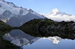 Mount Cook evening landscape, New Zealand. Royalty Free Stock Image