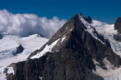 Mount Cook and glaciers - New Zealand Stock Photo