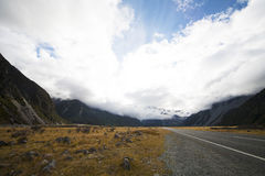 The Mount Cook. Hides in the clouds Royalty Free Stock Images