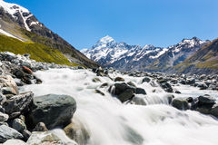 Mount Cook and Hooker Valley Track Royalty Free Stock Photo