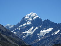 Mount Cook makes a face Royalty Free Stock Photos