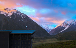 Mount Cook in Morning Twilight Stock Photography