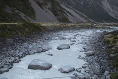 Mount Cook National Park featuring snow, mountains and tranquil scenes d.y. Mount Cook National Park featuring snow, mountains and tranquil scenes, New Zealand d Royalty Free Stock Images