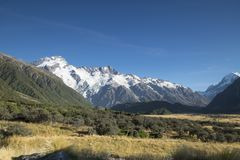 Mount Cook National Park featuring snow, mountains and tranquil scenes d.y. Mount Cook National Park featuring snow, mountains and tranquil scenes, New Zealand d Royalty Free Stock Photos