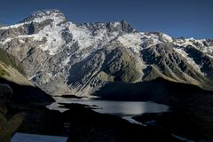 Mount Cook National Park featuring snow, mountains and tranquil scenes d.y. Mount Cook National Park featuring snow, mountains and tranquil scenes, New Zealand d Stock Images