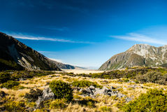 Mount Cook National Park, South Island, New Zealand. View from Mount Cook National Park Stock Photo