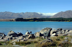 Mount Cook in New Zealand. On a blue day Royalty Free Stock Image