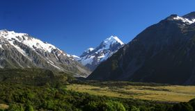 Mount Cook in New Zealand. Mount Cook on New Zealand's South Island Stock Image
