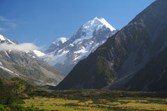 Mount Cook in New Zealand Royalty Free Stock Photos