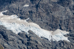 Mount Cook in New Zealand. Close-up of the snow on the Mount Cook in New Zealand Royalty Free Stock Photo