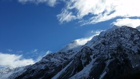 Mount Cook, New Zealand. Fascinating mountain, Mount Cook, New Zealand Royalty Free Stock Images