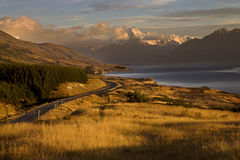Mount Cook New Zealand. National Park Southern Alps Royalty Free Stock Photo