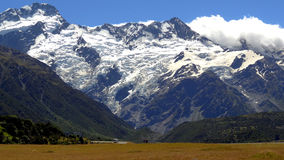 Mount Cook, New Zealand. New Zealand's higuest mountain in a sunny day Royalty Free Stock Photo