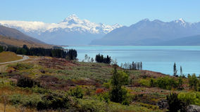Mount Cook, New Zealand. New Zealand's higuest mountain in a sunny day Royalty Free Stock Image