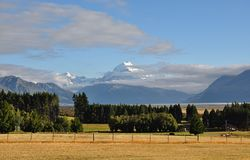 Mount Cook New Zealand. South island Stock Photography