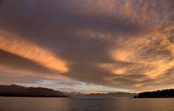 Mount Cook New Zealand Sunrise Stock Photography