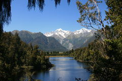 Mount Cook over Lake Matheson Royalty Free Stock Image