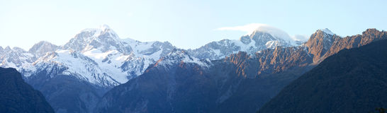 Mount Cook in panoramic view New Zealand Stock Image