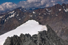 Mount Cook peak aerial photo - New Zealand Stock Photos