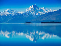 Mount Cook reflection Royalty Free Stock Photography