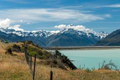 Mount Cook Road Trip Lake Pukaki New Zealand royalty free stock images