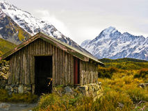 Mount Cook shelter Royalty Free Stock Photo