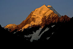 Mount Cook at sunset. Newzealand's highest peak mount Cook at sunset Royalty Free Stock Photography