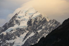 Mount Cook at sunset Stock Images