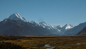 Mount Cook Valley Stock Photo